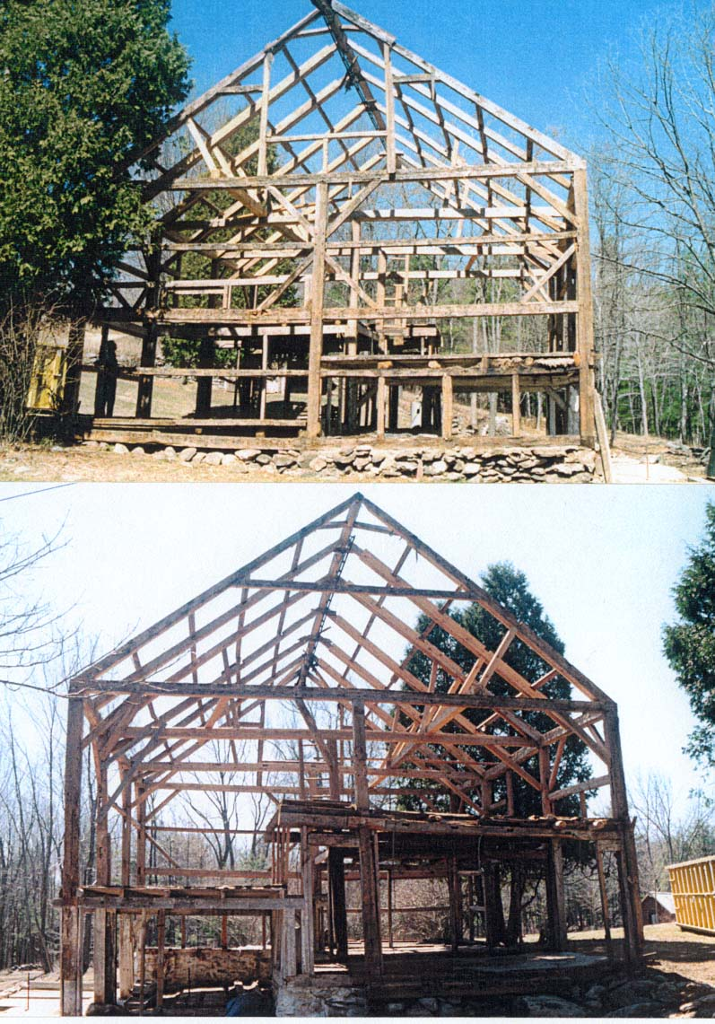 New Hampshire barn frame
